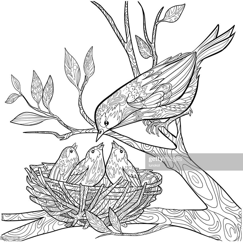 Sarrabisco Pássaro : Arte vetorial