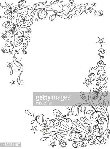 Doodle Corner Designs : Vector Art