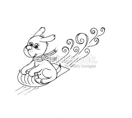 Doodle Dog Sled Vector Art | Thinkstock