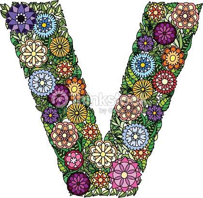 Doodle flower letter v vector art thinkstock doodle flower letter v vector art thecheapjerseys Gallery