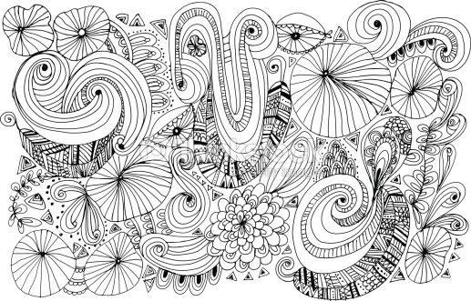Doodle Motif Fleurs Clipart Vectoriel Thinkstock