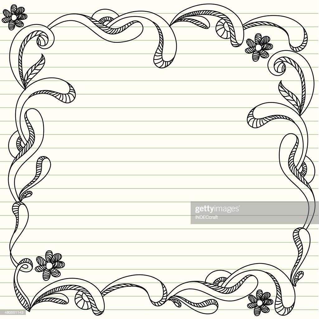 Doodle Frame : Vector Art