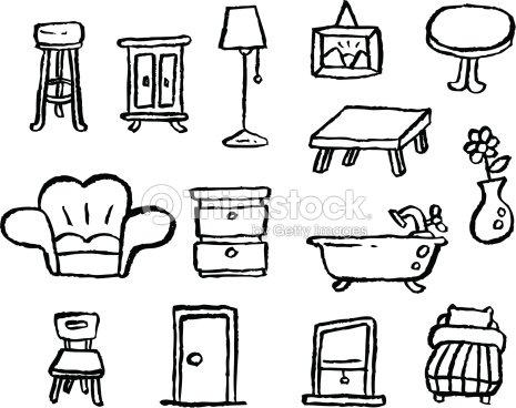 Serie di disegni di mobili arte vettoriale thinkstock for Disegni mobili