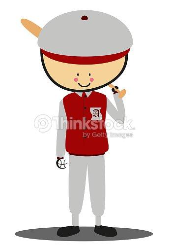 Doodle softball player