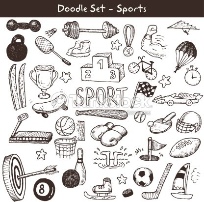 Doodle sports. Vector illustration.