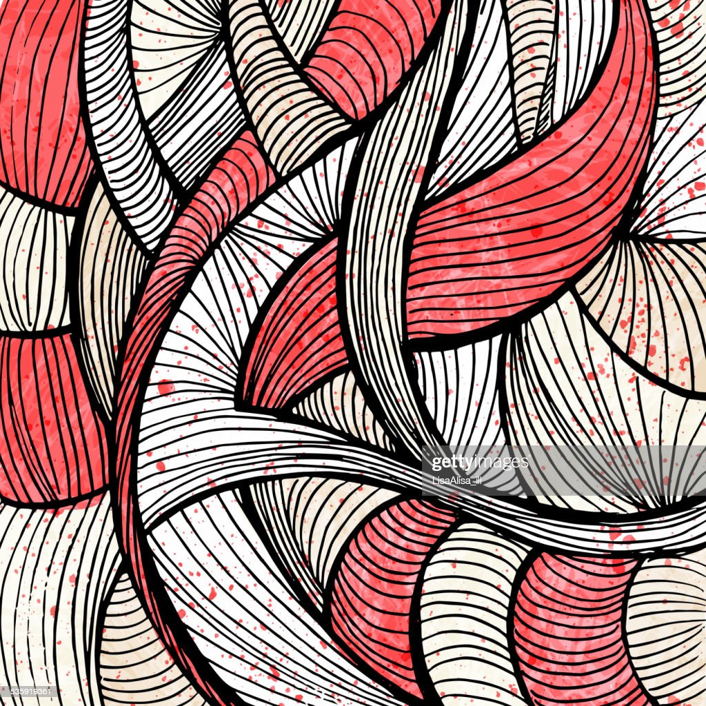 Doodles abstract background : Vector Art