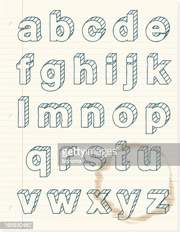 Doodly lower case alphabet vector art getty images for Doodly free