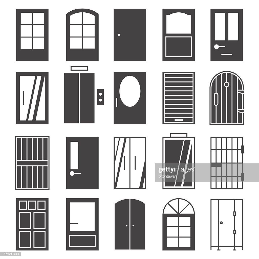 door icon Set  Vector Art  sc 1 st  Thinkstock & Door Icon Set Vector Art | Thinkstock