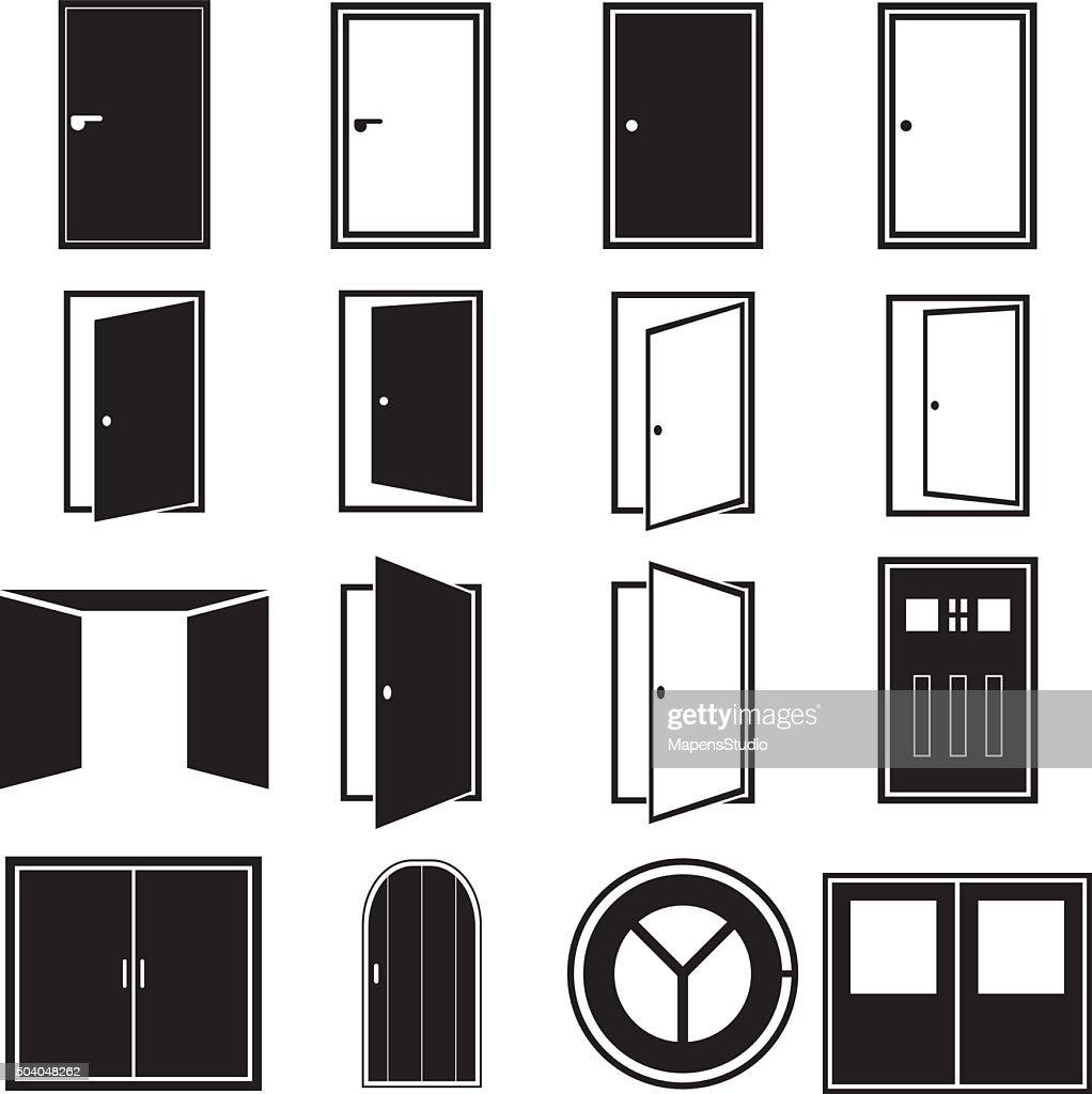 Door Icons  Vector Art  sc 1 st  Thinkstock & Door Icons Vector Art   Thinkstock