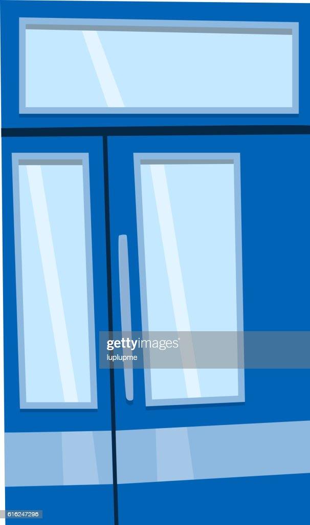 Door isolated vector illustration. : Vector Art