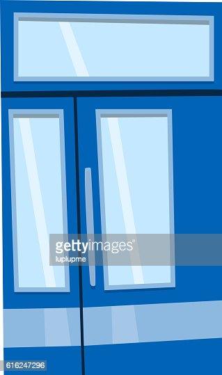 Puerta aislado de ilustración de vectores. : Arte vectorial