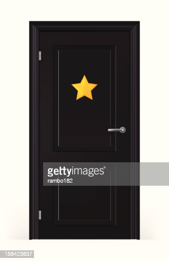 Door Of Stars Dressing Room Vector Art | Getty Images
