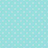 Dot pattern seamless design green aqua and white. Pastel background.