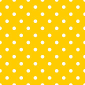Dot pattern seamless design yellow and white. Pastel background vector.