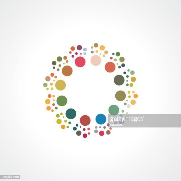 Dots circle vector pattern