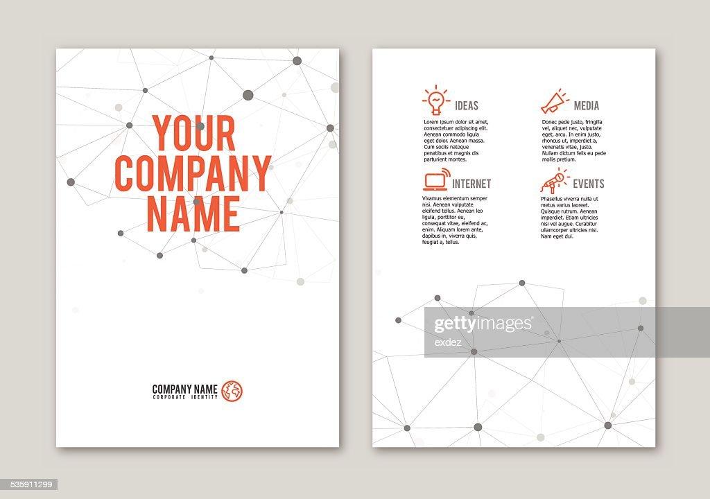 Gepunktete Portfolio design : Vektorgrafik