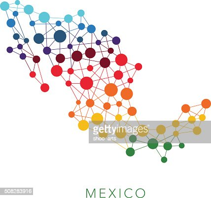 dotted texture Mexico vector background : Vector Art