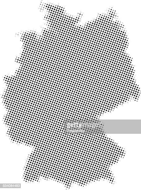Dotted vector map of Germany