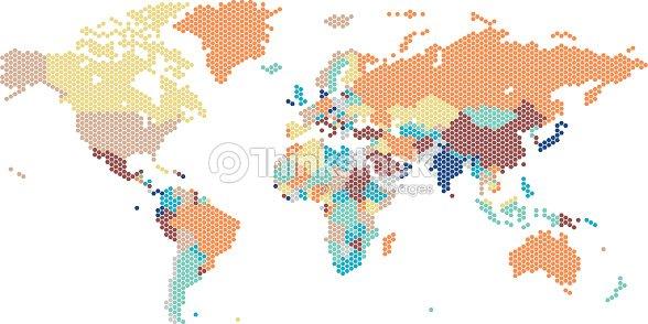 Dotted world map of hexagonal dots vector art thinkstock dotted world map of hexagonal dots vector art gumiabroncs Gallery