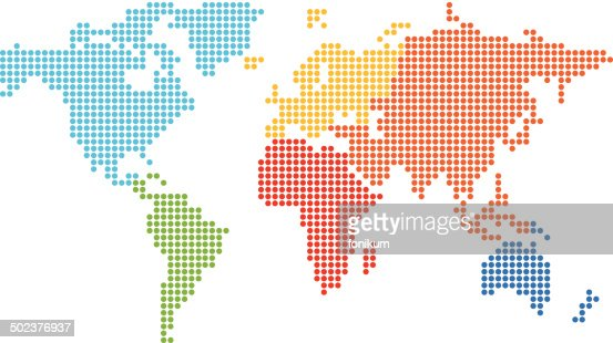 Dotted world map vector planet earth globe positions stock image dotted world map vector download gumiabroncs Choice Image