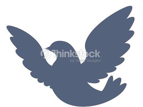 Dove Icon Pigeon Silhouette Peace And Love Symbol Vector Art