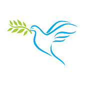 Vector illustration of the Dove of Peace