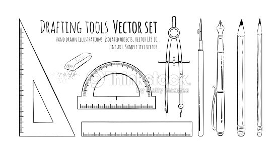 Drafting Tools Vector Art