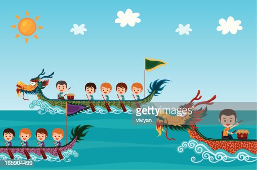 Dragon Boat Festival Vector Art | Getty Images