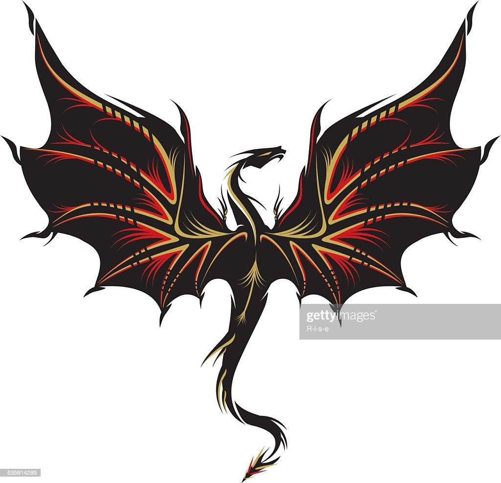 Dragon tattoo : Vector Art