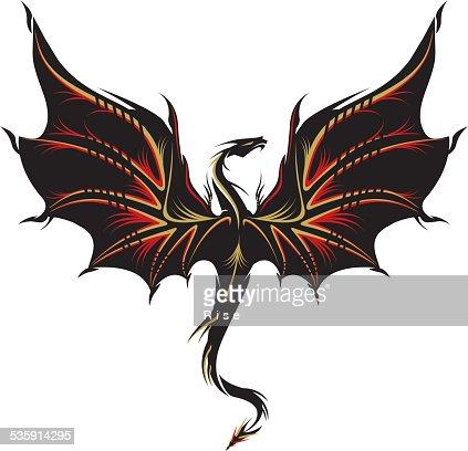 Dragones tatuaje : Arte vectorial