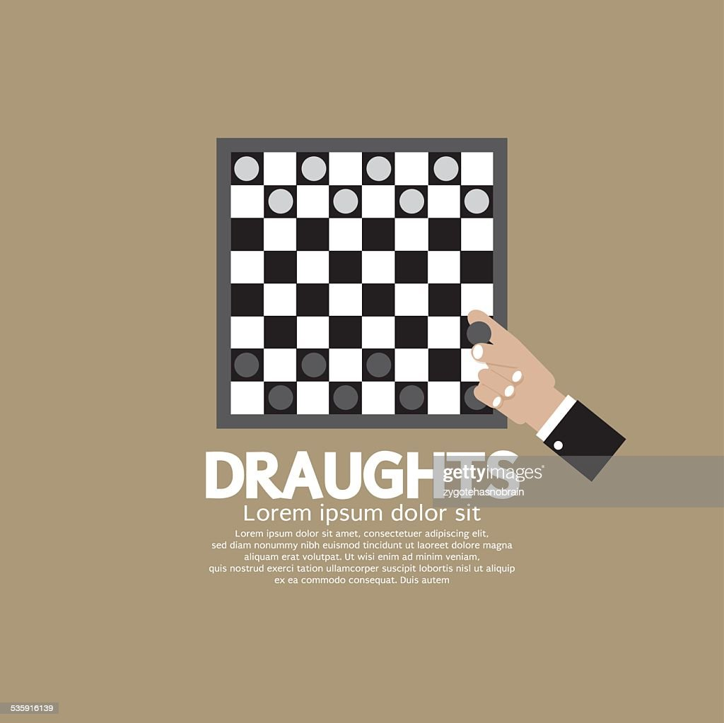 Draughts Or Checker Board Game : Vector Art