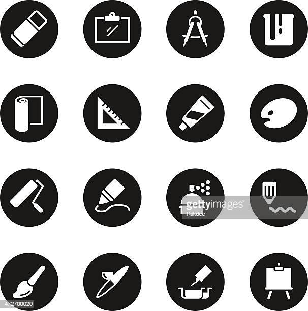 Drawing and Painting Icons - Black Circle Series