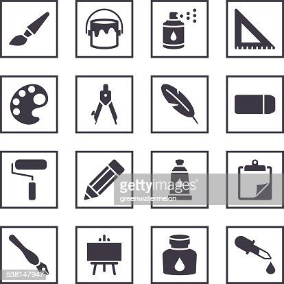 drawing and painting symbols vector art thinkstock