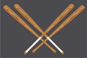 Vector illustration of wooden baseball bat.