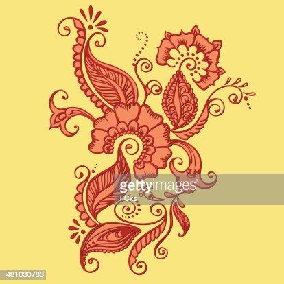 Drawing Of Henna Vector Art Thinkstock