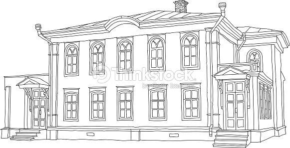 Dessin Croquis Dune Maison Clipart vectoriel | Thinkstock