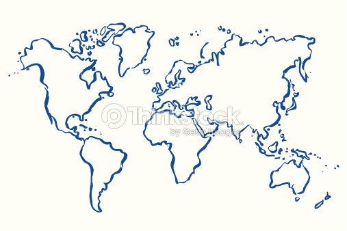 Map Of World Vector.Drawn Vector Map Of World Vector Art Thinkstock