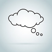 dream cloud isolated icon. Speech bubble of dreaming icon isolated on background. speech bubble of dreaming icon isolated on background. Modern flat pictogram. Trendy Simple vector symbol