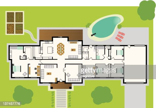 Dream House Plans Vector Art