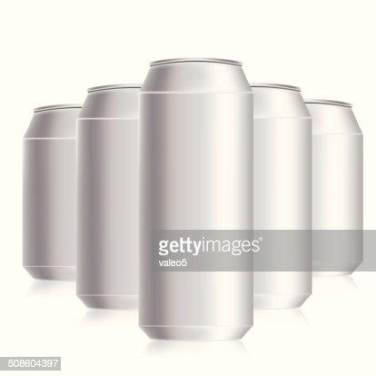 Latas de bebidas : Arte vetorial