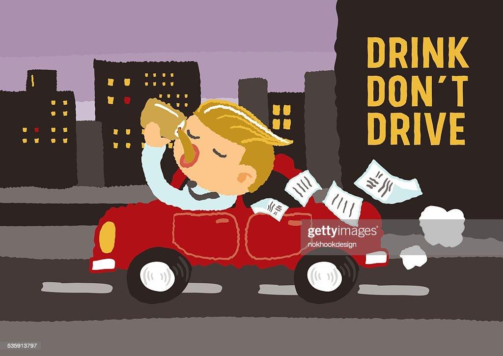 Drink do not drive : Vector Art
