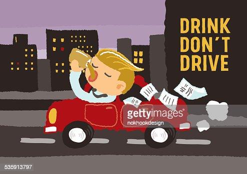 Bebida no conduzca : Arte vectorial