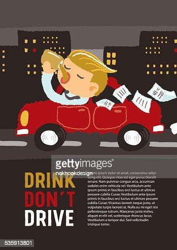 Bebidas não conduza : Arte vetorial