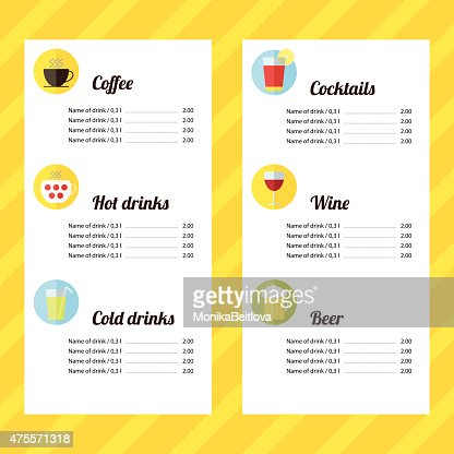Drink Menu Template Vector Art  Thinkstock