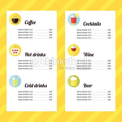 pin sample drink menu template on pinterest cocktail menu – Sample Drink Menu Template
