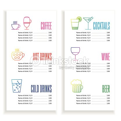 Drink Menu Template Vector Art | Thinkstock