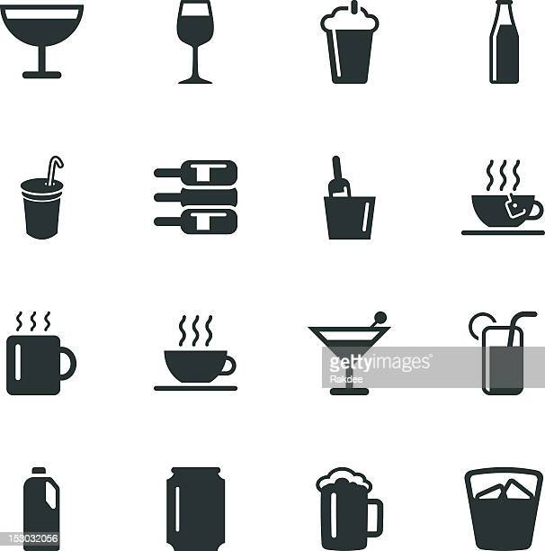 Trinken Silhouette-Symbole-Set 1
