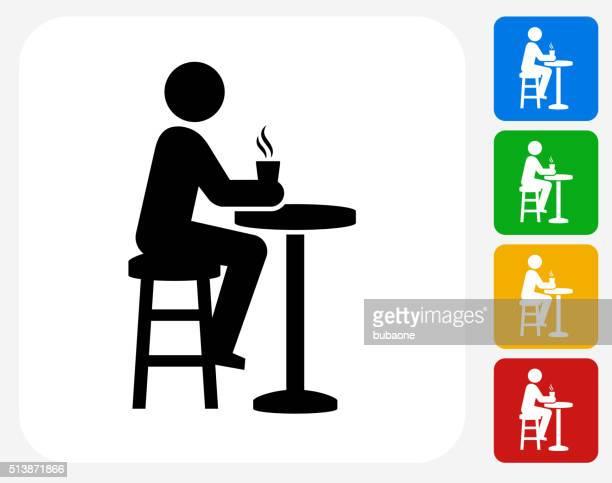Drinking Icon Flat Graphic Design