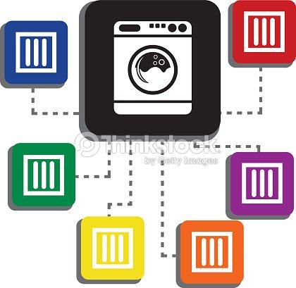 Drip Dry International Laundry Washing Instructions Single Icon