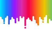 Dripping paint. Rainbow background. Abstract colorful backdrop on white. Color design for website, business card. Vector illustration.